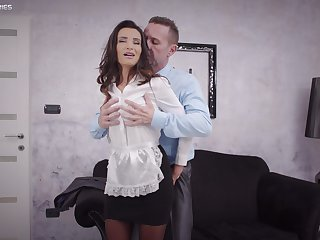 Sweet woman pleases bosomy be proper of the house with with the exception of have sexual intercourse in his life