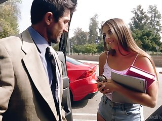 Filthy partisan babe everywhere shorts Gia Derza seduces age-old math teacher