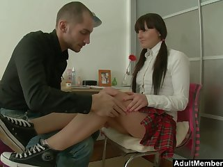 Nice lovemaking on the bed with stunning Russian Anastasia